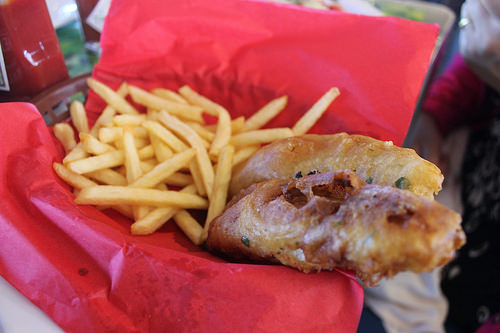 Fish and chips from the boat