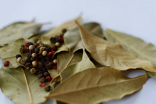 spices and leaves