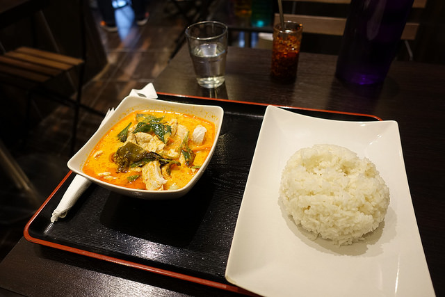 thai cuisine with curry chicken