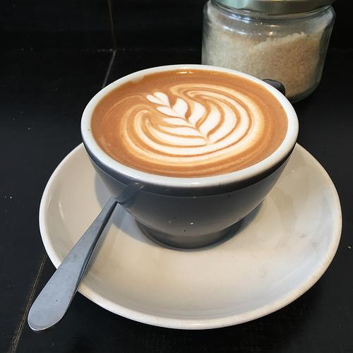 white coffee time at Pardon Coffee in Prahran