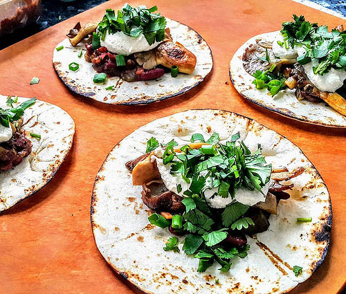 PlantBased Tacos with Oyster Mushrooms
