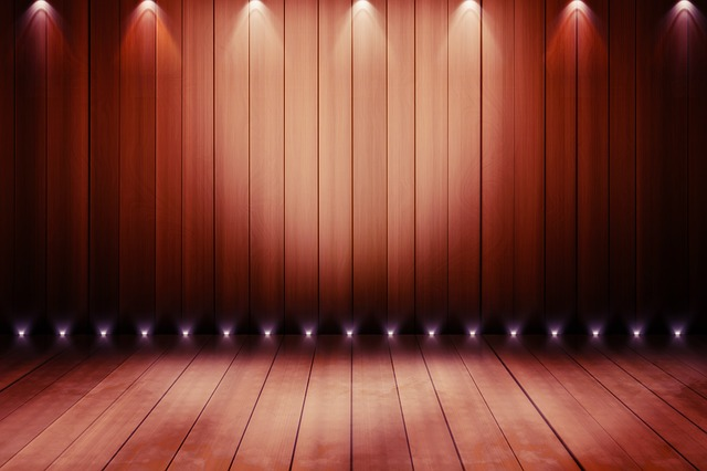 stage with lighting