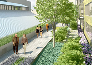 Rendering of Hodge on 7th linear gardens