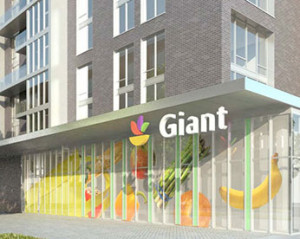 Rendering of Giant food store at Hodge on 7th