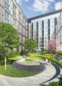 Rendering of Hodge on 7th courtyard