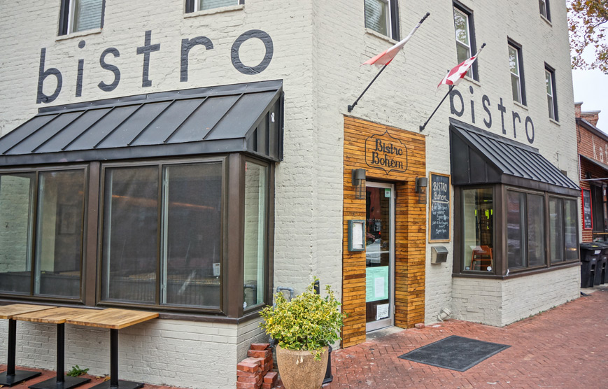 Exterior photo of Bistro Bohem