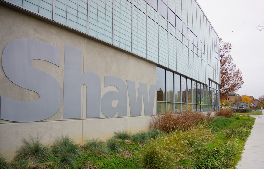 Exterior of Shaw Library