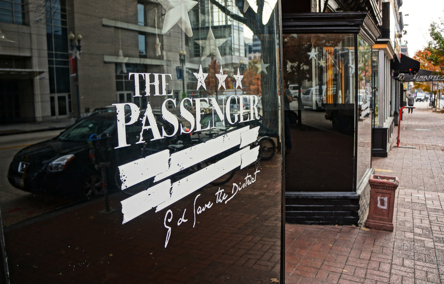 Exterior photo of The Passenger restaurant